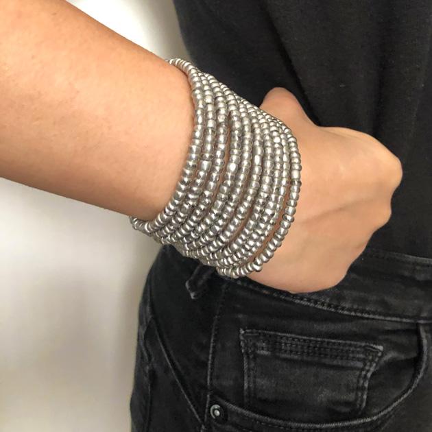 Malaika-bracciale-argento-rotonde-1