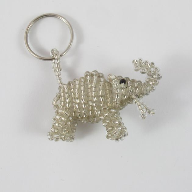 Malaika-portachiavi-elefante-argento