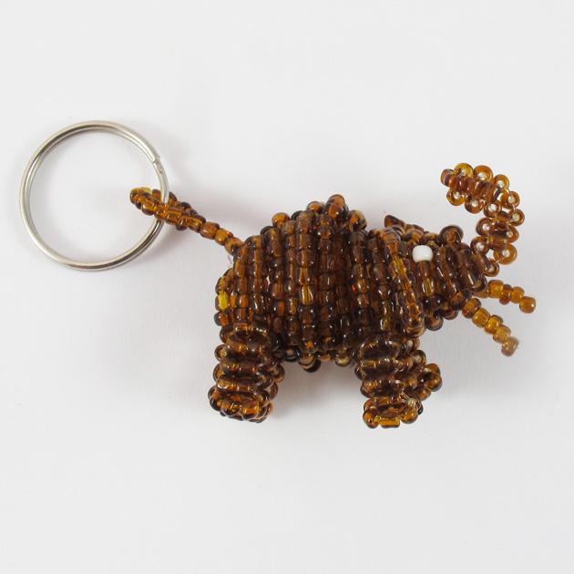 Malaika-portachiavi-elefante-marrone-4