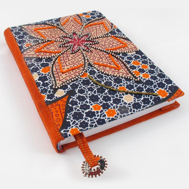Malaika-quaderno-perline-arancione-1