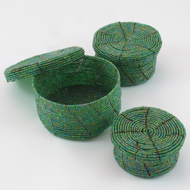 Malaika-scatole-perline-verde-4