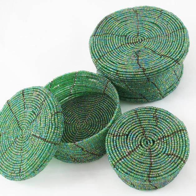 Malaika-scatole-perline-verde-2